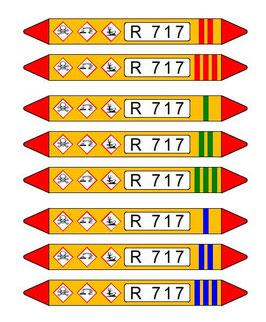 Rohrkennzeichnung für Ammmoniakrohrleitungen