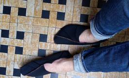 Pantoffels gemaakt uit hergebruikte neopreen