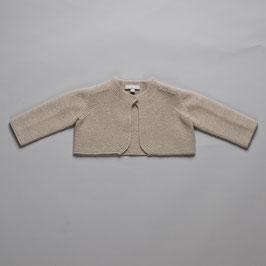Cardigan merino wool taupe