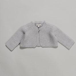 Cardigan merino wool grey melange