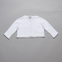 V-neck cardigan white