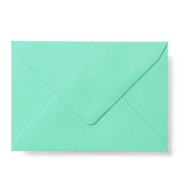 Briefumschlag mit Seidenfutter (Mint)