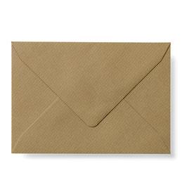Briefumschlag mit Seidenfutter (Braun)