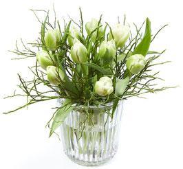 Tulpen-Vasenfüllung weiss