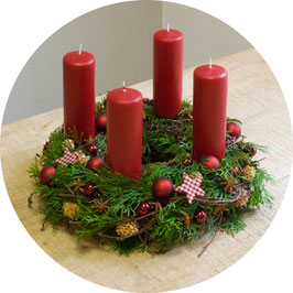 Adventskranz us de Box: Rot Standard