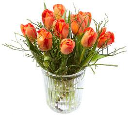 Tulpen-Vasenfüllung orange