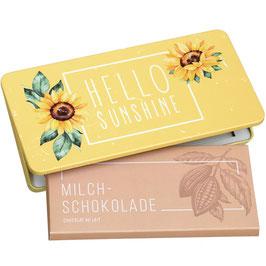 Milchschokolade von Munz in Geschenkdose Hello Sunshine