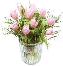 Tulpen-Vasenfüllung rosa