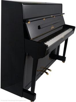 Carl Pfeiffer Stuttgart Klavier Modell 115 Schwarz poliert Konsole
