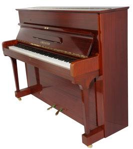 Bechstein Klavier Modell 114 Mahagoni Schellack Hochglanz rotbraun