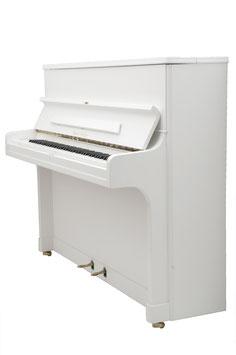 August Förster Modell 120 Super Weiß satiniert Geschlossene Konsole Neu lackiert
