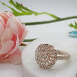 Ring Feinsilber geprägt Ammonit