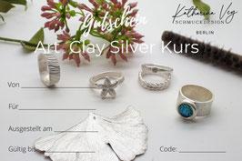 """Gutschein """"Silver Clay Kurs"""""""
