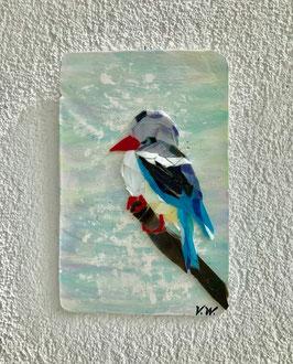 """""""Grauköpfiger Eisvogel - Mosaik auf Gipsbasis"""" von Viktoriia Winkler"""