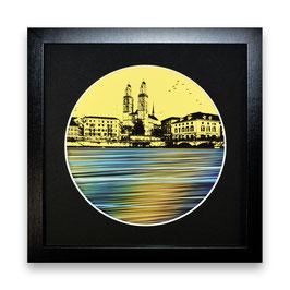 """""""Zürich Wasser Nr. 4 - 1/1"""" von Pedro Blas"""