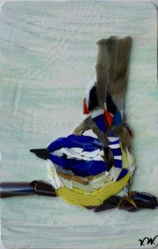 """""""Vogel - Mosaik auf Gipsbasis"""" von Viktoriia Winkler"""