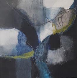 """Bleus sur noir I"" von atelier (bks)"