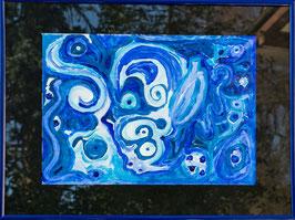 """""""Blue monkey"""" von Oliver Hojas"""