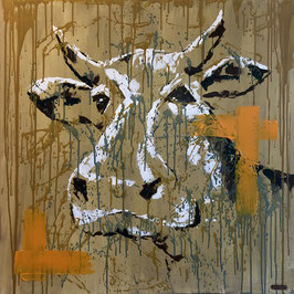 """Swiss cow abstract"" von Rebecca Peter"