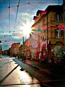 """""""Chalchi – ehemals bekanntestes besetztes Haus an der Kalkbreite Zürich"""" , Fotografie Lineve.art 2010"""