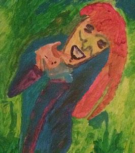 """""""Mädchen mit Babyhund"""" von Denis Batinic"""