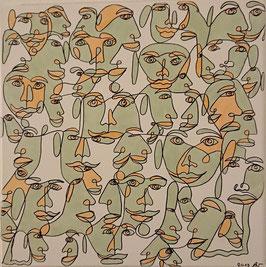 """""""Jungle of faces"""" von Alexia Lynn"""