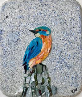 """""""Eisvogel / Mosaik auf Gipsbasis"""" von Viktoriia Winkler"""
