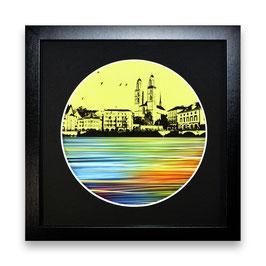 """""""Zürich Wasser Nr. 1 - 1/1"""" von Pedro Blas"""