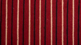 Rayures noires et blanches sur un rouge franc (1)