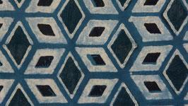Losanges bleus et noirs