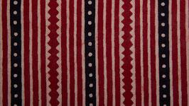 Rayures irrégulières rouges et noires