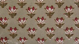 Petites fleurs stylisées gris rouge (3)
