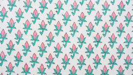 Bouton floral rose et vert