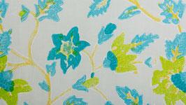 Fleurs turquoise et citron vert