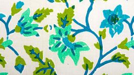 Fleurs grimpantes vert turquoise