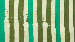Batik linéaire entre vert et kaki