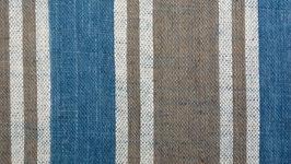 Tissu bio aux bandes brunes bleues (3)