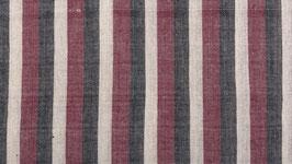 Tissu bio aux bandes rouges et noires