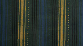 Ajrak aux rayures jaunes et bleues