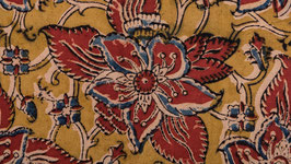 Nappe kalamkari fleur de la passion (3)