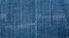 Impression tissée bleue