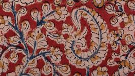 Kalamkari aux fleurs de cachemire