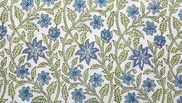 Houle florale bleu pastel