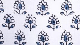 Petite couronne florale bleu ardoise