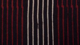 Rayures verticales écrues et rouge