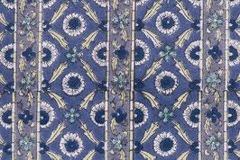 Tissu moghol aux frises violettes