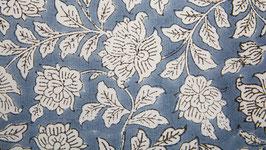 Monochrome floral gris bleu