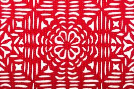 Couvre-lit appliqué rouge