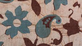 Fleurs de cachemire bleu canard