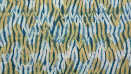 Shibori à chevrons ocre jaune